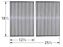 Porcelain steel wire cooking grid for Charbroil, Kenmore, Thermos brand gas grills
