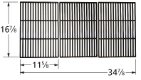 Matte cast iron 2-pc cooking grid set for Brinkmann, Grill Chef, Nexgrill brand gas grills