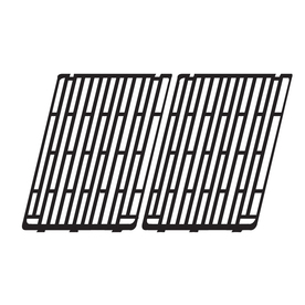 gloss cast iron cooking grid; Amberlight,Arkla,Broilmaster,Charbroil,Charmglow,Outdoor Gourmet,Patio Kitchen,Sunbeam; 14 x 20