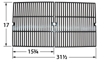 Gloss cast iron cooking grid for Charmglow brand gas grills