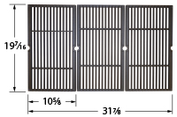 Matte Cast Iron Cooking Grid for Bakers & Chefs, Brinkmann, Broil-Mate, Charbroil, Charmglow, Grill Chef, Grill Pro, Sterling, T