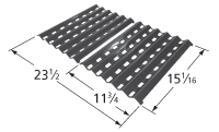 Porcelain Steel Heat Plate for Brinkmann, Charmglow Brand Gas Grills