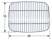 Stainless steel wire cooking grid for Grand Cafe, Grand Hall, Kenmore, Kirkland, Master Forge, Members Mark, Patio Range brand g