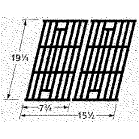 Matte cast iron cooking grid for Perfect Flame brand gas grills