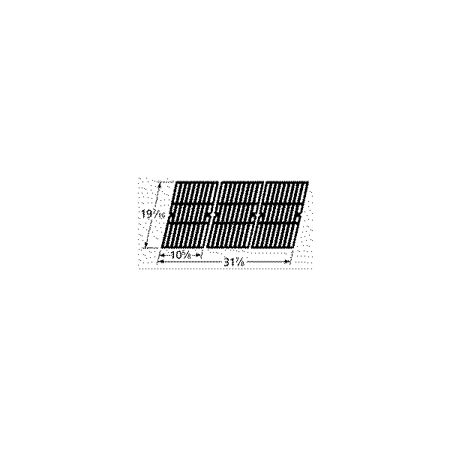"matte cast iron cooking grid; Charbroil,Presidents Choice; 19.4375"" x 31.875"""