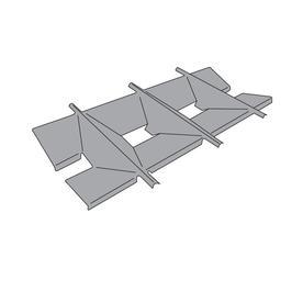 Porcelain steel heat plate for Fiesta, Kenmore brand gas grills