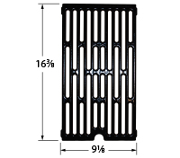 Matte cast iron cooking grid for Charbroil, Kenmore, Nexgrill, Uberhaus, Uniflame brand gas grills