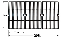 Gloss cast iron cooking grid for Kenmore, XPS brand gas grills