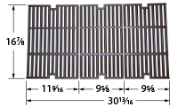 Matte Cast Iron Cooking Grid for Bbq Pro, Outdoor Gourmet Brand Gas Grills
