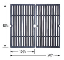 Matte cast iron cooking grid for Fiesta brand gas grills