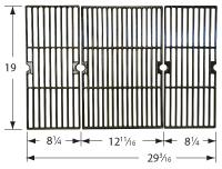 Matte Cast Iron Cooking Grid for Uniflame Brand Gas Grills