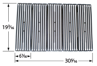 Matte cast iron cooking grid for BBQ Tek, Dyna-Glo, Napoleon, North American Outdoors, Perfect Flame, XPS brand gas grills