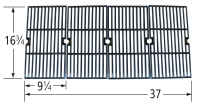 Matte Cast Iron Cooking Grid for Charbroil, Kenmore, Master Chef Brand Gas Grills