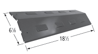 Porcelain Steel Heat Plate for Backyard Grill, Bbq Tek, Kenmore, Master forge, Perfect Flame Brand Gas Grills