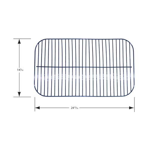 porcelain steel wire cooking grid; Backyard Grill,Uniflame; 14.4375 x 24.8125