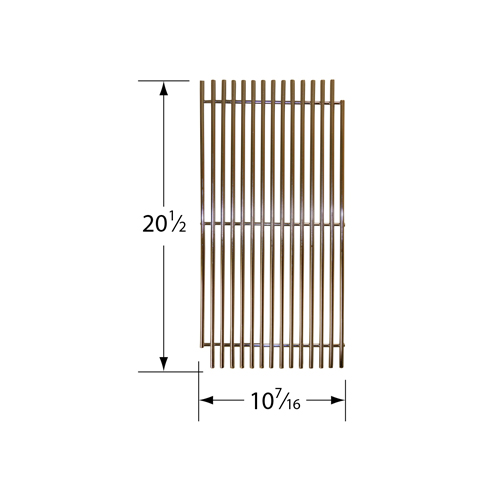 Stainless steel wire cooking grid for DCS brand gas grills