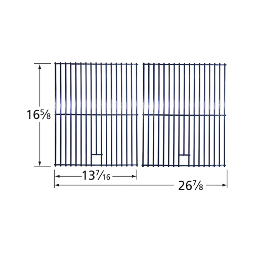 "porcelain steel wire cooking grid; BBQ Pro,Kenmore,Permasteel; 16.625"" x 26.875"""