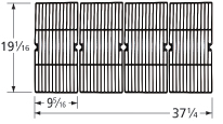 Matte Cast Iron Cooking Grid for Oklahoma Joe Brand Gas Grills