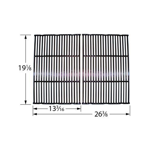 Gloss cast iron cooking grid for Broil King, Broil-Mate, Grill Pro, Perfect Flame, Sterling brand gas grills