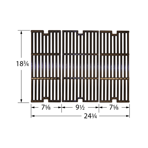 Gloss cast iron cooking grid for BBQ Pro, Kenmore, Outdoor Gourmet brand gas grills