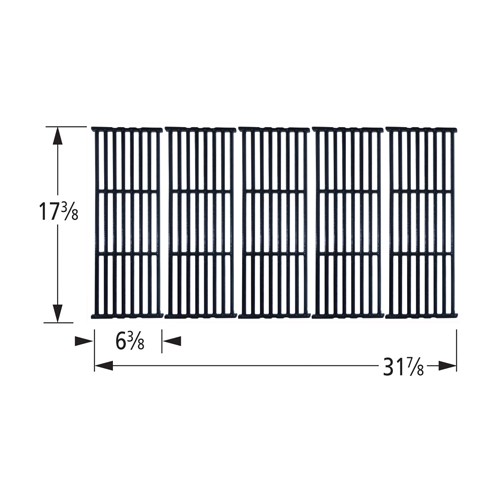 Gloss cast iron cooking grid for Broil King, Broil-Mate, Huntington, Sterling brand gas grills