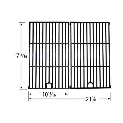 Gloss cast iron cooking grid for Backyard Grill brand gas grills