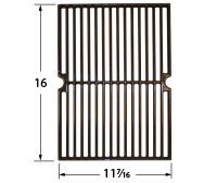 Matte cast iron cooking grid for Broil King, Broil-Mate, Sterling brand gas grills