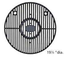 Gloss cast iron cooking grid for Chargriller, King Griller brand gas grills