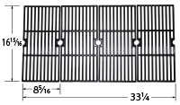 Matte Cast Iron 3-pc Cooking Grid Set for Broil King, Centro, Charbroil, Kenmore, Kirkland, Master Chef, Savor Pro, Thermos Bran