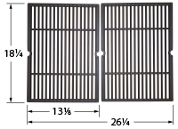 Gloss Cast Iron Cooking Grid for Charbroil, Kenmore Brand Gas Grills