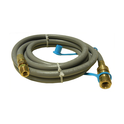 10 ft. natural gas hose, 0.375 in. diameter, with quick connect coupling