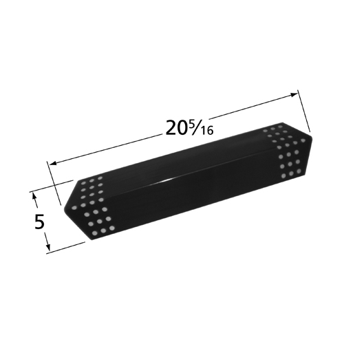 Porcelain steel heat plate for Charbroil, Kenmore brand gas grills