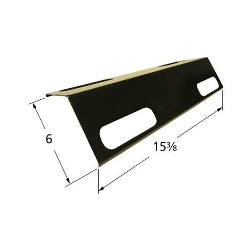 Porcelain steel heat plate for Ducane brand gas grills