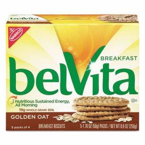 belVita Breakfast Biscuits, 1.76 oz Pack, Golden Oat, 64/Carton
