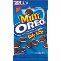Dot Foods Oreo 00680 Mini Cookies, 3 oz Bag, Chocolate
