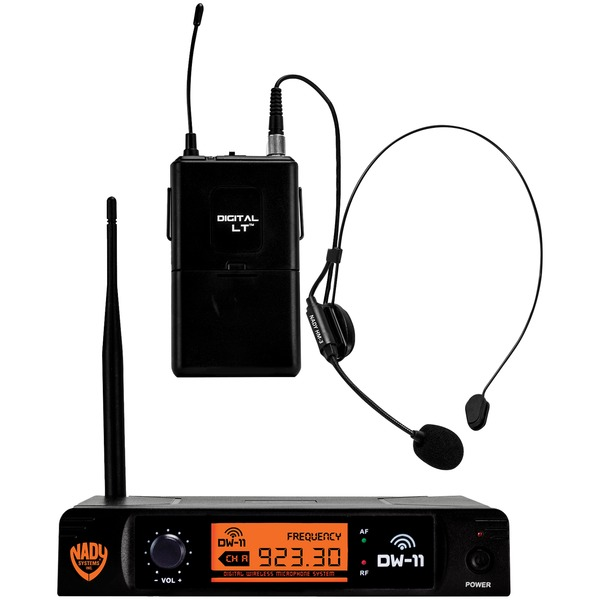 Nady DW-11-HM-ANY Single-Channel Digital Wireless Microphone System (Digital LT HM-3 Headset)