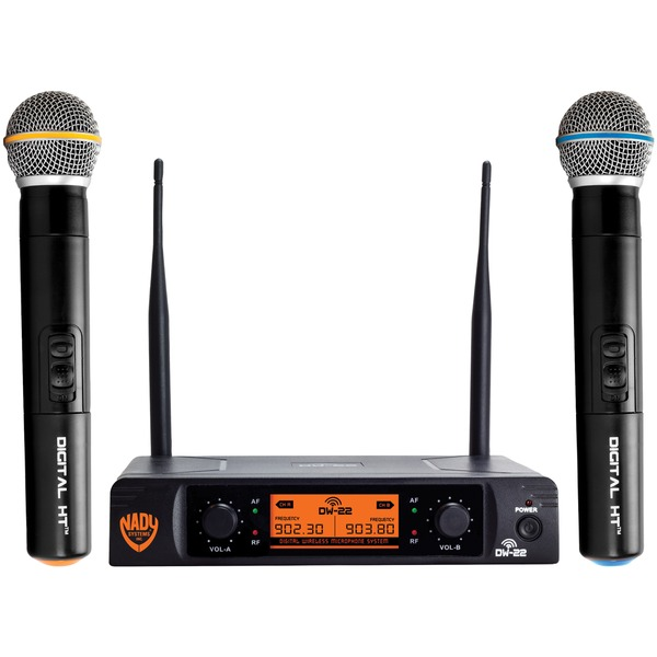 Nady DW-22-HT-ANY Dual-Transmitter Digital Wireless Microphone System (2 Digital HT Handheld Microphones)