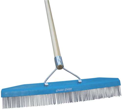 CARPET RAKE WITH HANDLE, 16 IN.