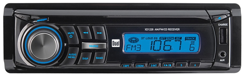 Dual AM/FM/CD Receiver Front 3.5mm Aux Input 60W