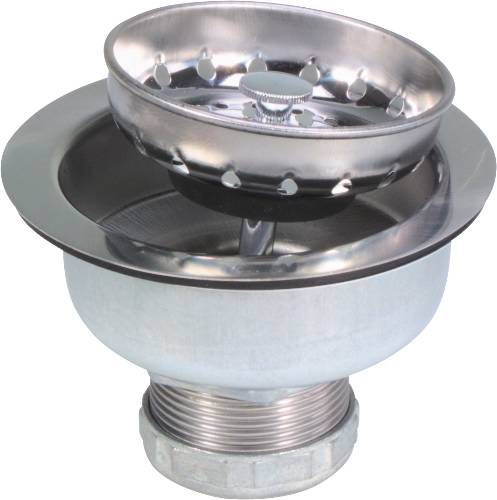 LONG SHANK SINK STRAINER, STAINLESS STEEL