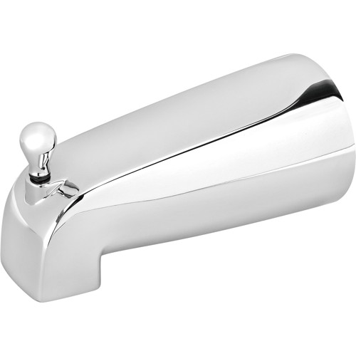 SLIP-ON BATHTUB SPOUT WITH PULL-UP DIVERTER, CHROME