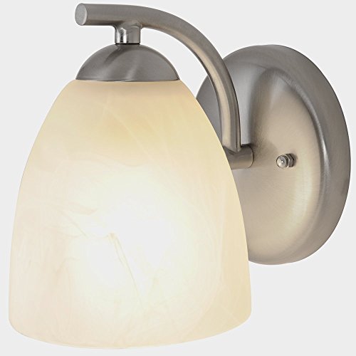 CONTEMPORARY VANITY FIXTURE, MAXIMUM ONE 100 WATT INCANDESCENT MEDIUM BASE BULBS, 5 IN., BRUSHED NICKEL