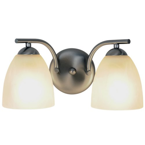 Contemporary Fluorescent Lighting Collection Bath Vanity 2-Light Brushed Nickel