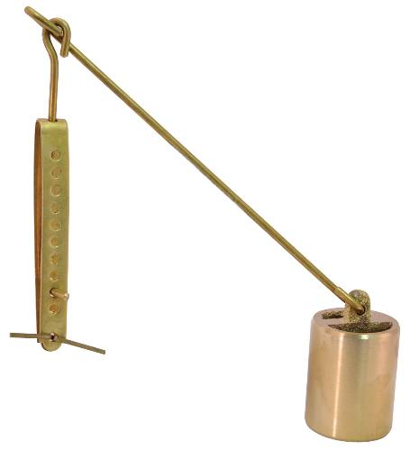 BRASS BATHTUB BUCKET AND LINKAGE