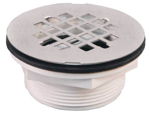 SHOWER DRAIN NO-CAULK PVC 2 IN.