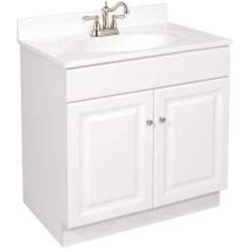 "24 x 21"" Wyndham Bathroom Vanity Cabinet, Ready To Assemble, 2 Door, White"
