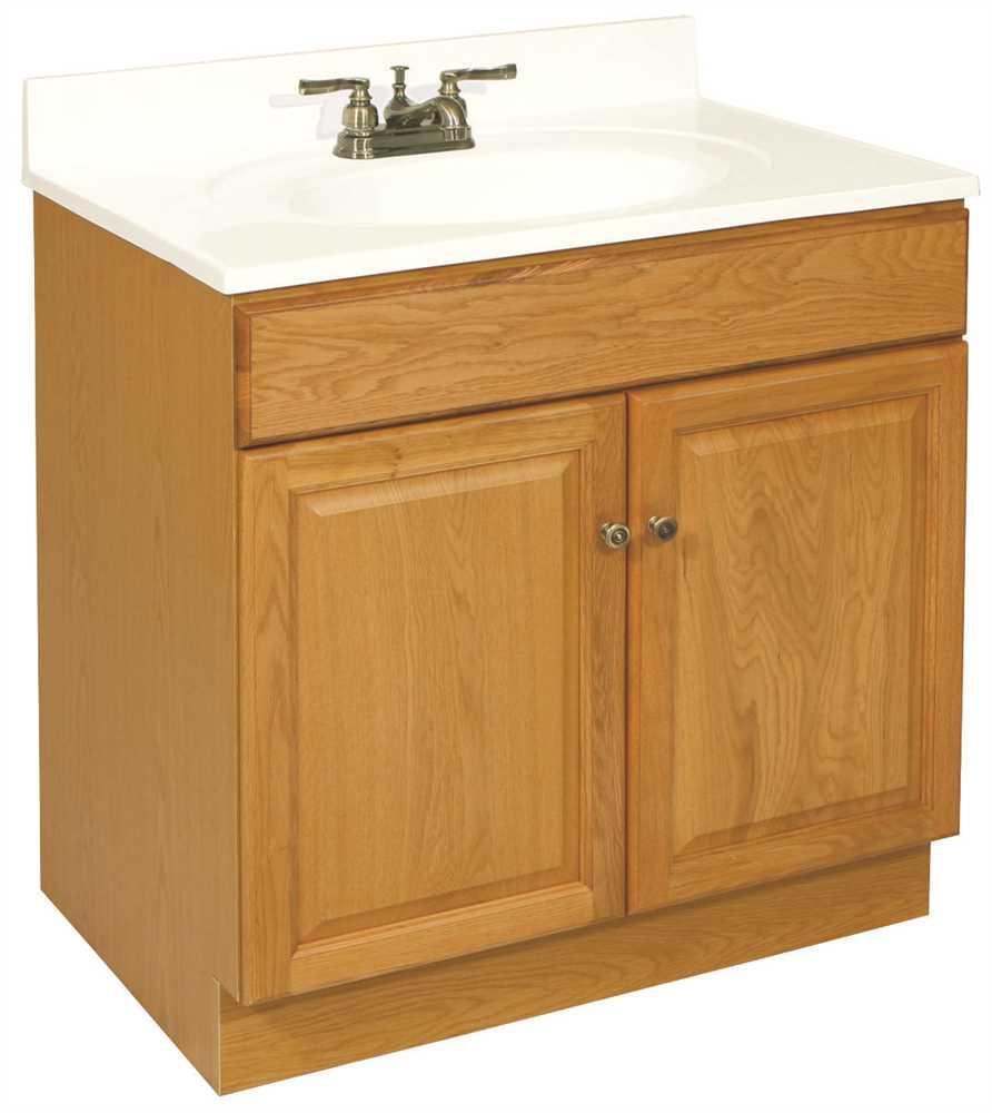 "30"" x 21.5"" Claremont Bathroom Vanity Cabinet, Ready To Assemble, 2 Door, Honey Oak"