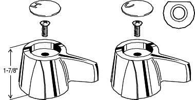 KITCHEN AND BATHROOM HANDLES FOR DELTA/DELEX