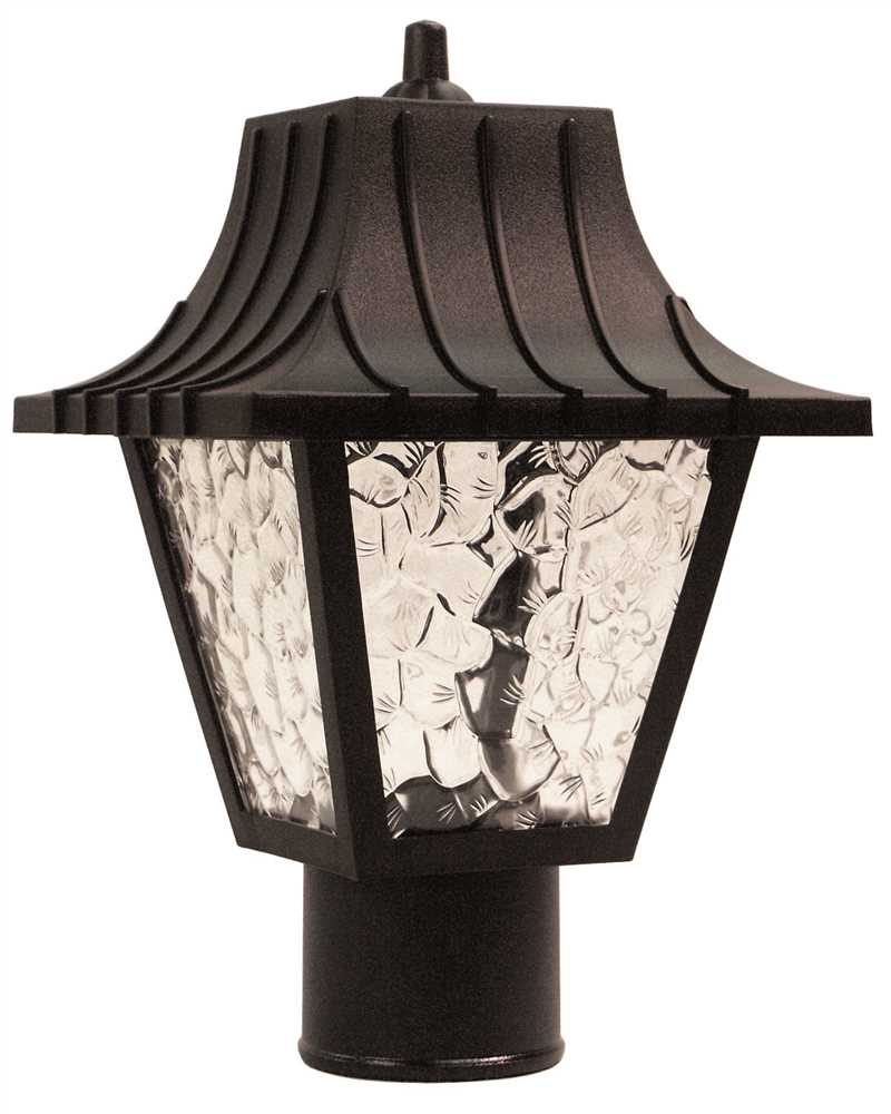 Post Coach Lantern Light Black
