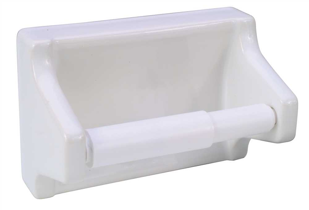 CERAMIC TOILET TISSUE HOLDER-GROUT IN